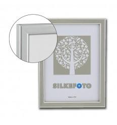 Sølv billedramme med refleksfrit glas